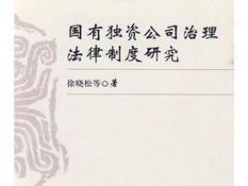 国有独资公司治理法律制度研究pdf