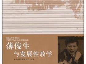薄俊生与发展性教学pdf
